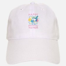 Peanuts Happy Birthday Pink Personalized Baseball Baseball Cap