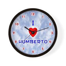 I Love Humberto (Red/Bl) Valentine Wall Clock