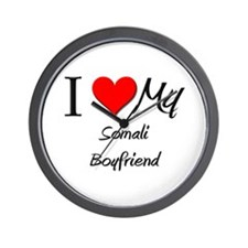 I Love My Somali Boyfriend Wall Clock