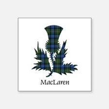 "Thistle - MacLaren Square Sticker 3"" x 3"""