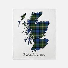 Map - MacLaren Throw Blanket