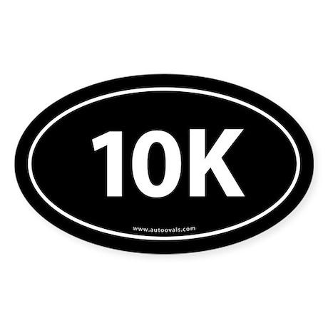 10K Runner Bumper Sticker -Black (Oval)