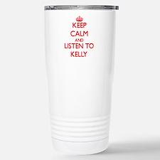 Cute Keep calm carry yarn Travel Mug