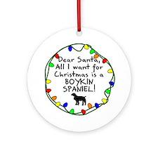Dear Santa Boykin Spaniel Christmas Ornament