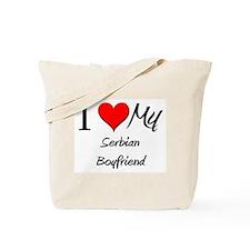 I Love My Serbian Boyfriend Tote Bag
