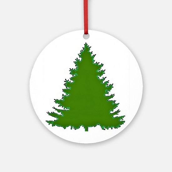Pine Tree Round Ornament