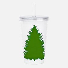 Pine Tree Acrylic Double-wall Tumbler