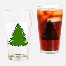 Pine Tree Drinking Glass