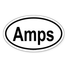 AMPS Oval Decal