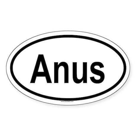 ANUS Oval Sticker