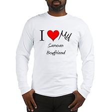 I Love My Samoan Boyfriend Long Sleeve T-Shirt