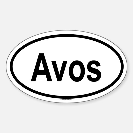 AVOS Oval Decal