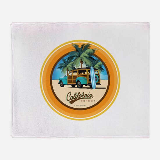 Woodie in California Throw Blanket