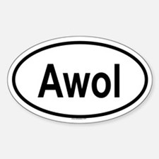 AWOL Oval Decal