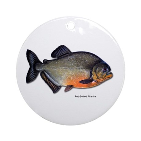 Red-Bellied Piranha Fish Keepsake (Round)