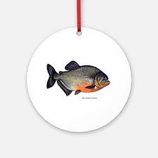 Red-Bellied Piranha Fish Keepsake (Round)