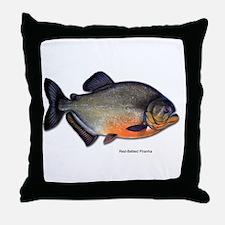 Red-Bellied Piranha Fish Throw Pillow