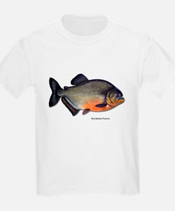 Red-Bellied Piranha Fish (Front) Kids T-Shirt