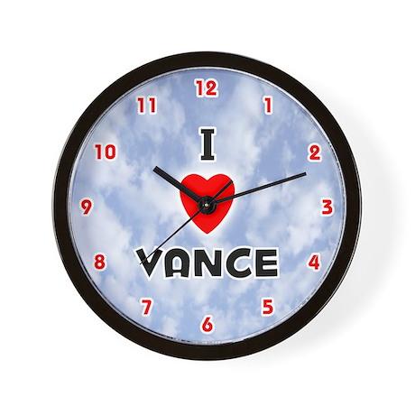 I Love Vance (Red/Blk) Valentine Wall Clock