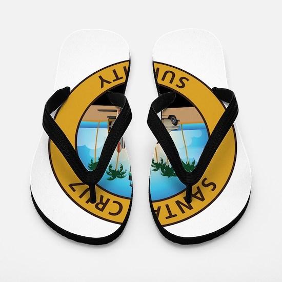 Santa Cruz Surf City Woodie Flip Flops