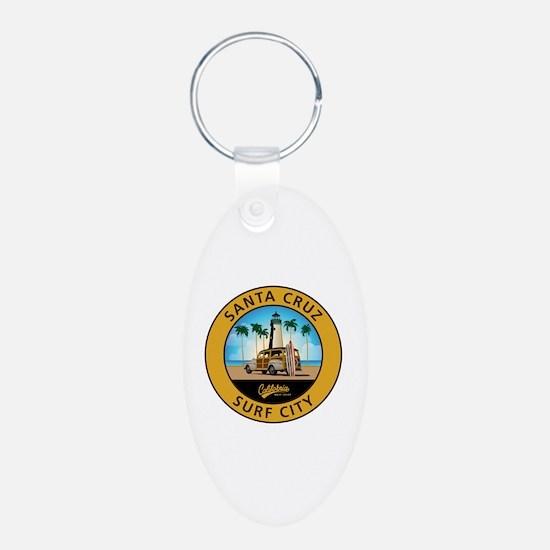 Santa Cruz Surf City Woodie Keychains