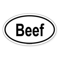 BEEF Oval Decal
