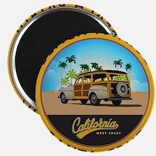 Santa Cruz Beach Patrol Woodie Magnet