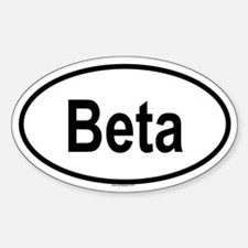 BETA Oval Decal