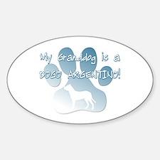 Dogo Argentino Granddog Oval Decal