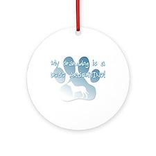 Dogo Argentino Granddog Ornament (Round)