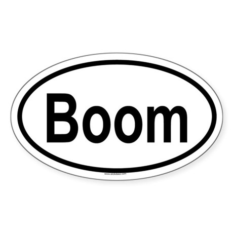 BOOM Oval Sticker