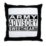 Army Sweetheart Advisory Throw Pillow