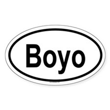 BOYO Oval Decal