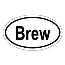 BREW Oval Decal