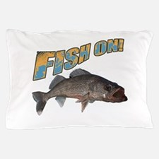 Fish on walleye color Pillow Case