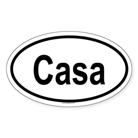 CASA Oval Sticker