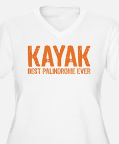 Kayak Palindrome Plus Size T-Shirt