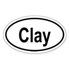 CLAY Oval Decal