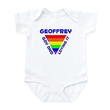Geoffrey Gay Pride (#005) Infant Bodysuit
