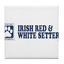 IRISH RED  WHITE SETTER Tile Coaster