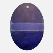 ROTHKO_Shades of Purples Oval Ornament