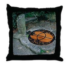 Chalice Well - Glastonbury UK Throw Pillow