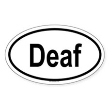 DEAF Oval Decal