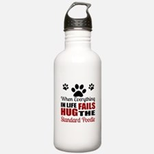 Hug The Standard Poodl Water Bottle