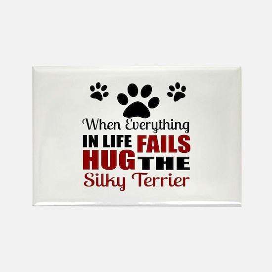 Hug The Silky Terrier Rectangle Magnet (10 pack)