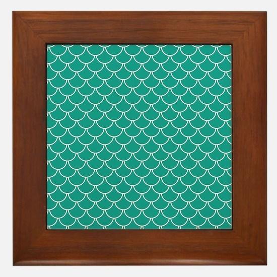 Blue Scales Framed Tile