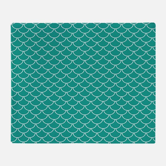 Blue Scales Throw Blanket