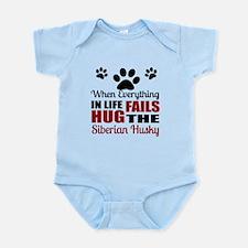 Hug The Siberian Husky Infant Bodysuit