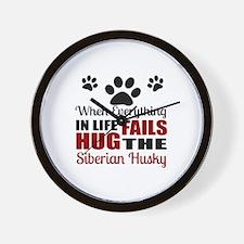 Hug The Siberian Husky Wall Clock