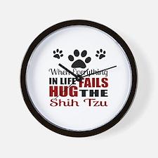 Hug The Shih Tzu Wall Clock